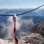 Wundervolle Aussichten während dem Klettern
