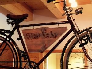 Bike-Ecke in der Hagan Lodge