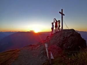 Sonnenuntergang auf de Schwalbenwand, Foto: Sabine Hechenberger