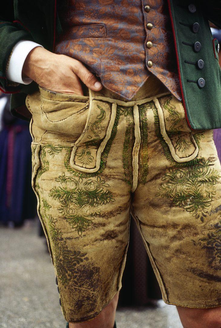 Medres00000019420 Man From Styria Lederhosen Leather Pants Bad