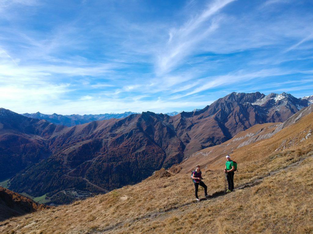 Wunderschönes Bergpanorama während dem Aufstieg, Foto: Sabine Hechenberger