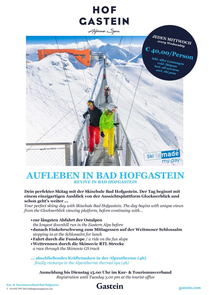 "Plakat ""Made my day in Bad Hofgastein"""