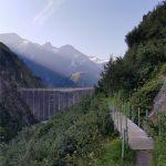 Hier kann man schon die Staumauer vom Wasserfallboden Stausee sehen, Foto: Sabine Hechenberger