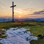 Sonnenaufgang am Maurerkogel Gipfel, Foto: Sabine Hechenberger