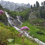 Wunderschöner Wasserfall während dem Aufstieg, Foto: Sabine Hechenberger