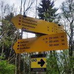 Super Wegbeschreibungen am Weg zur Erlhofplatte,  Foto: Sabine Hechenberger