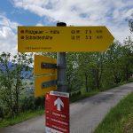 Wanderschilder Richtung Pinzgauer Hütte, Foto: Sabine Hechenberger