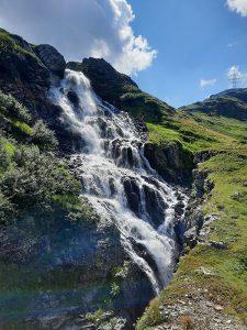 Gigantischer Wasserfall kurz vorm Plattachsee, Foto: Sabine Hechenberger