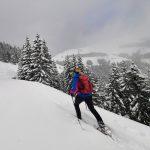 Schneeschuhwandern Richtung Schützingalm,Foto: Sabine Hechenberger