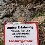 Alpine Erfahrung! nur für geübte Wanderer