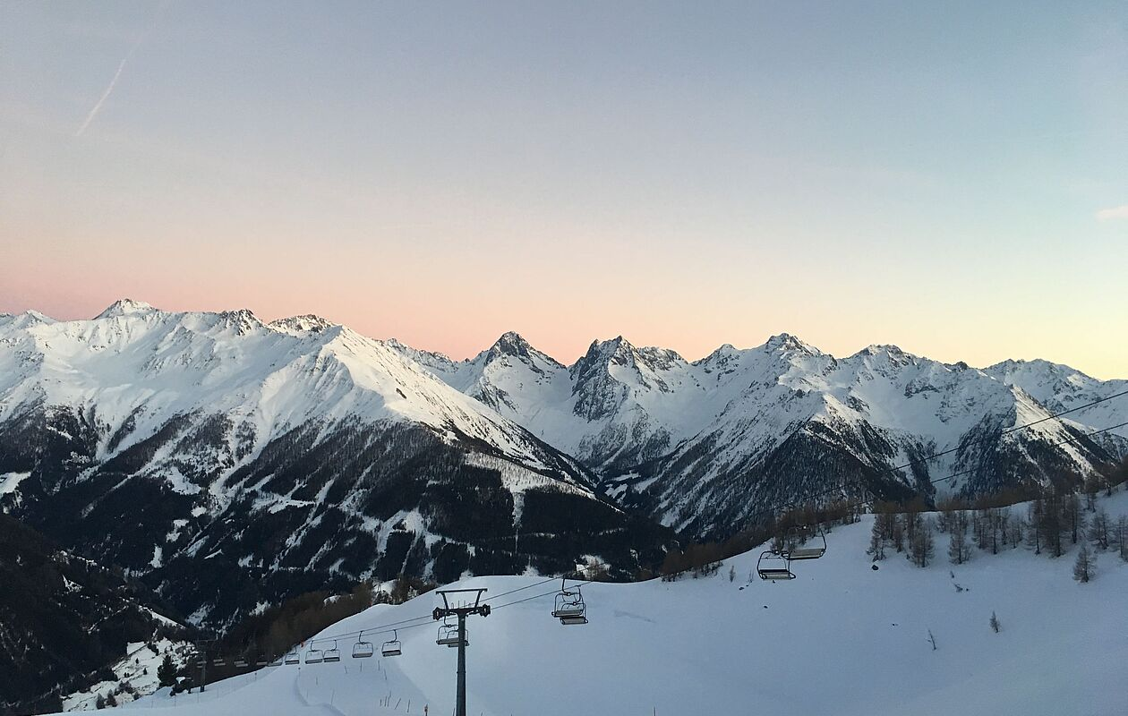 Wunderschöne Abenddämmerung in Osttirol