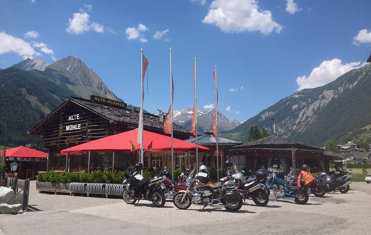 Das Wirtshaus Alte Mühle ist beliebt bei Motorradfahrern