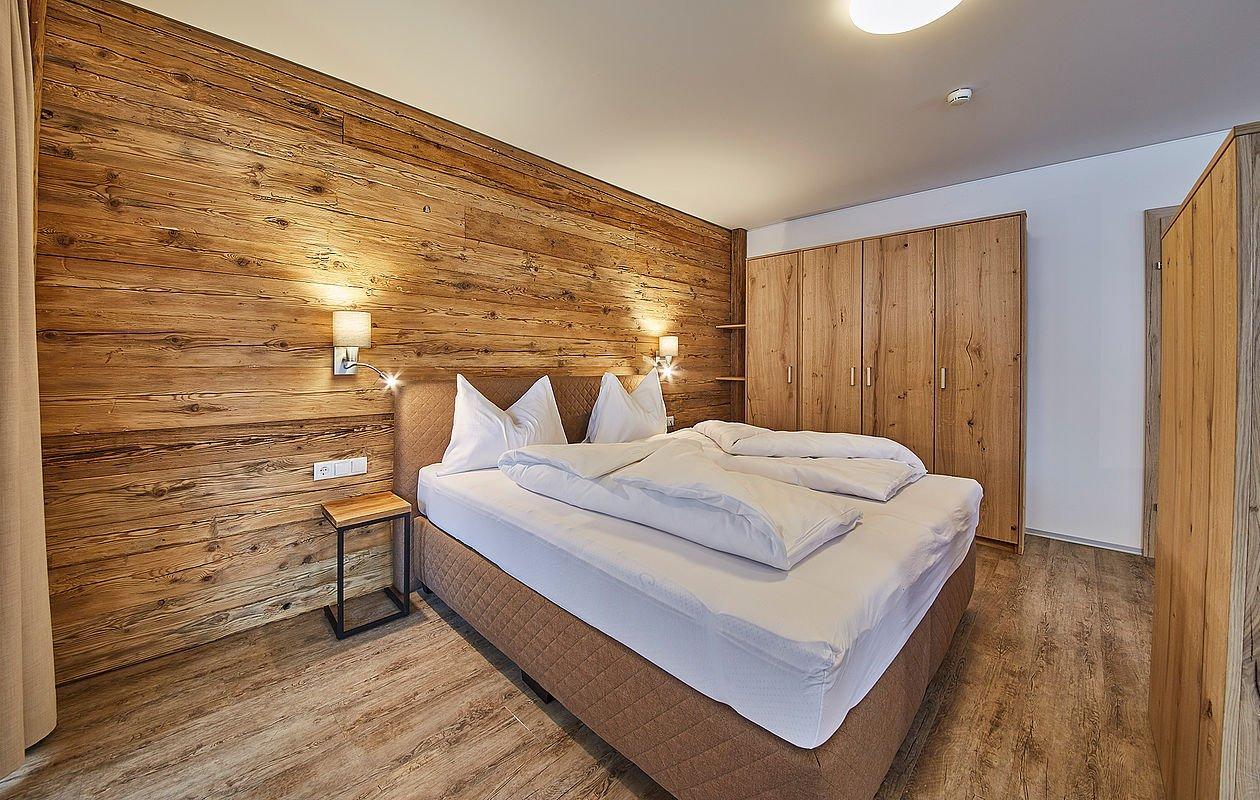 Schlafzimmer in der Unterkunft AlpenParks Alpina Seefeld