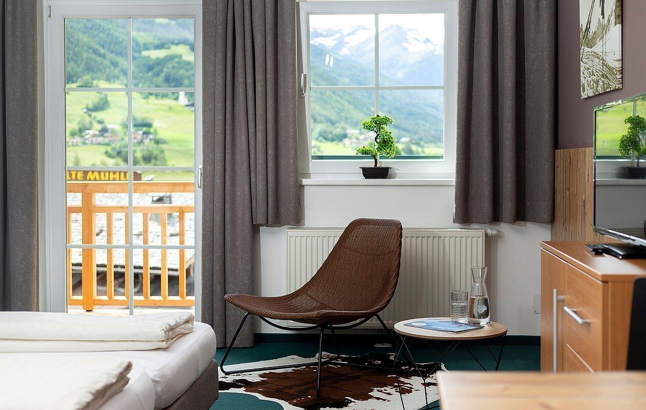 Moderne, helle Zimmer im Hotel Montana