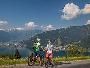 [Translate to English:] Mountainbiken am Mitterberg in Zell am See