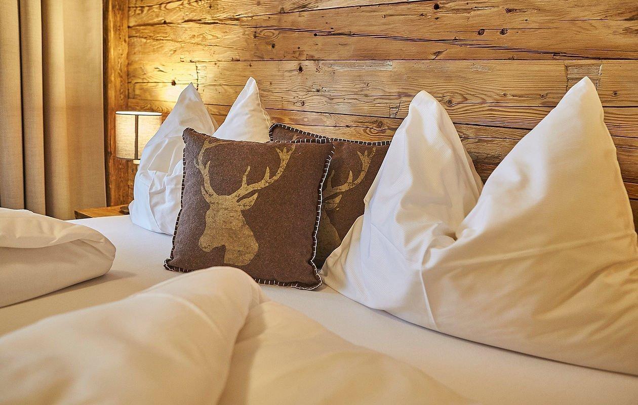 Gemütliche Betten im Hotel Sonnleiten in Saalbach