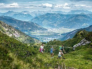 Hiking at the Kitzsteinhorn in summertime