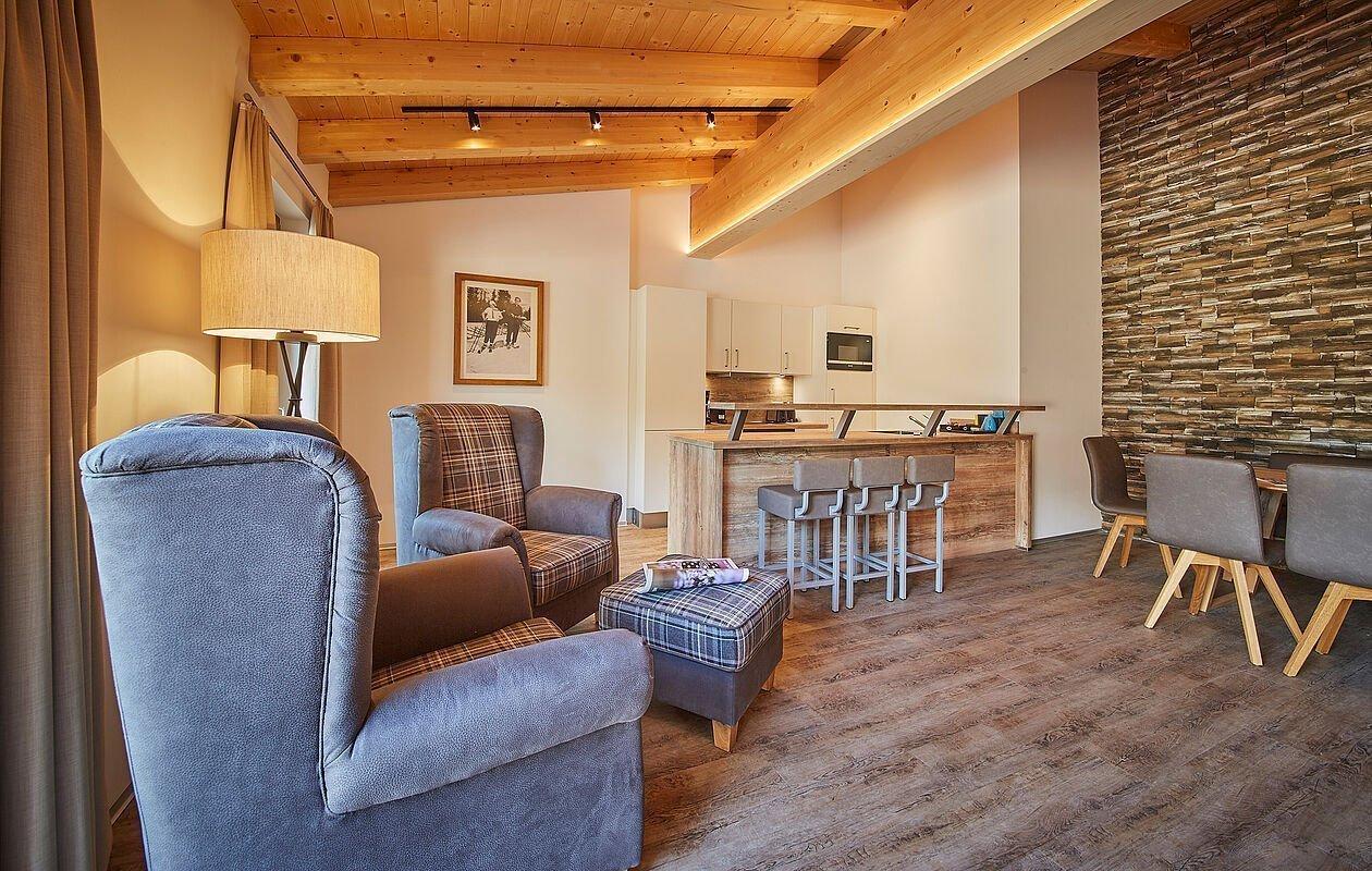 Gemütlich und modern eingerichtetes Penthouse im Hotel Sonnleiten in Saalbach