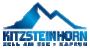 Blaues Logo mit Bergen und Schriftzug 'Kitzsteinhorn'
