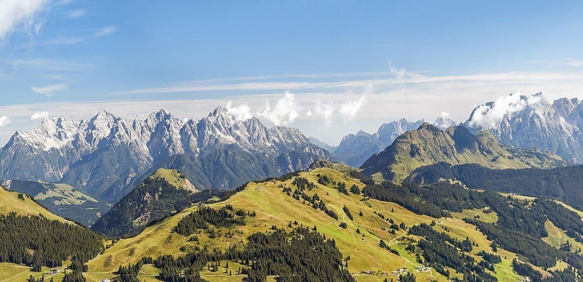 Gigantisches Bergpanorama rund um Saalbach-Hinterglemm