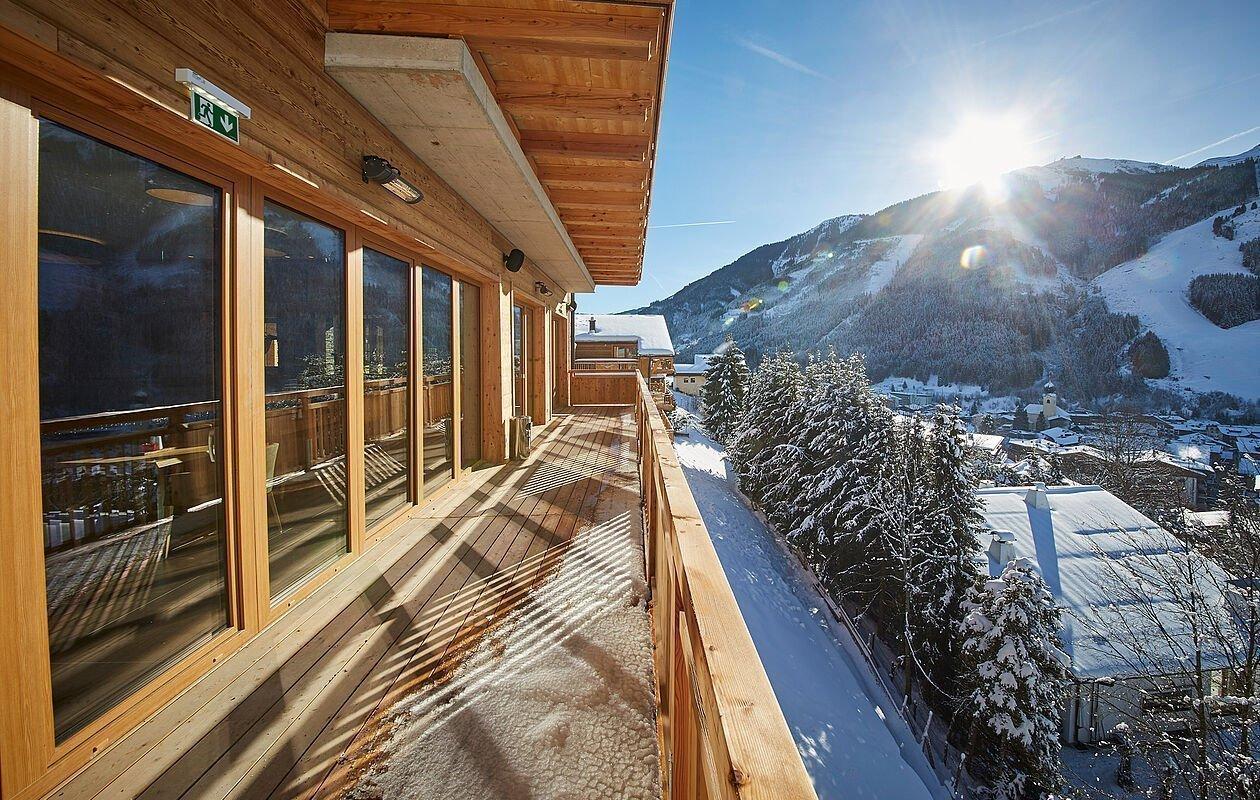Bergblick vom Hotel Sonnleiten in Saalbach