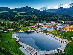 Neuer Thermal-Badesee bei der Alpentherme in Gastein