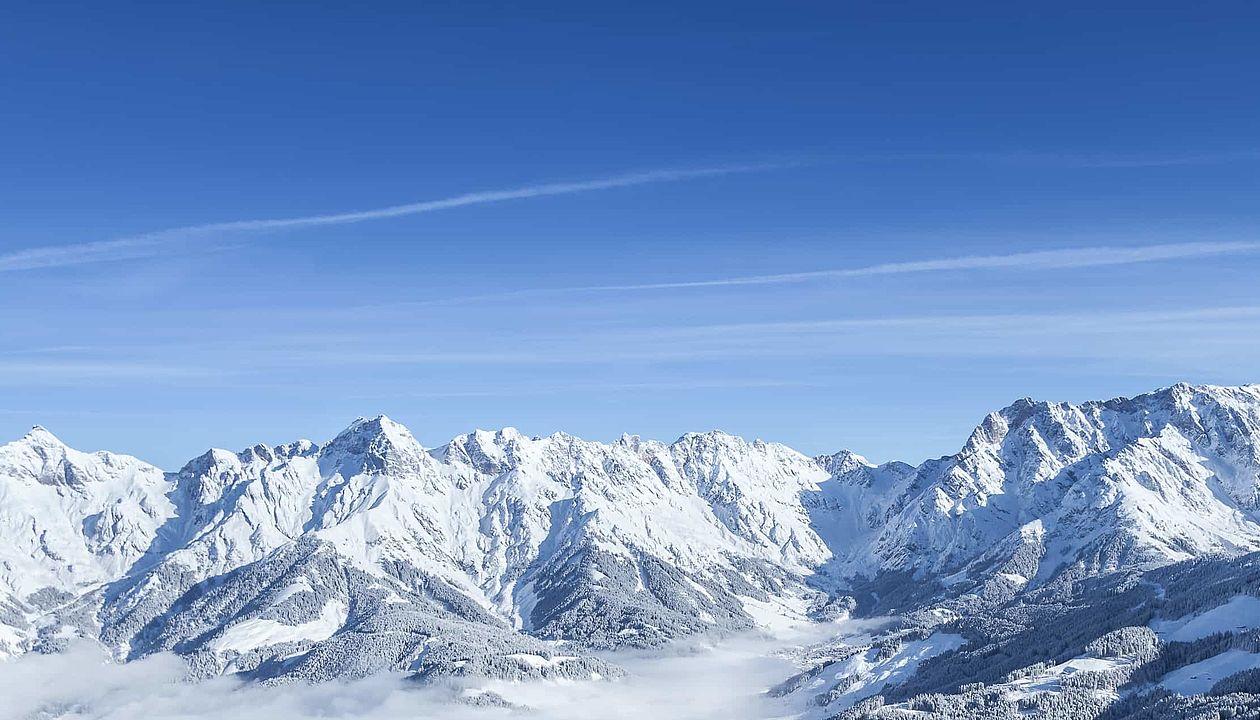 Winterliches Bild vom Skigebiet Hochkönig im SalzburgerLand