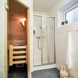 Private Sauna in einigen Appartements