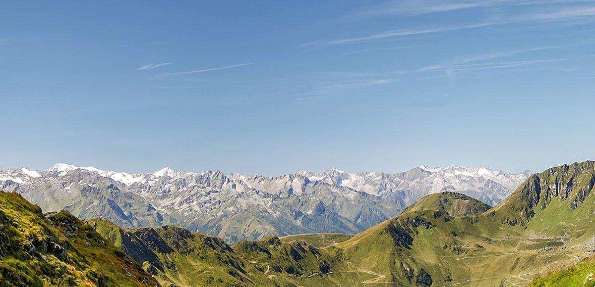 Sagenhafter Rundumblick in den Bergen von Saalbach-Hinterglemm