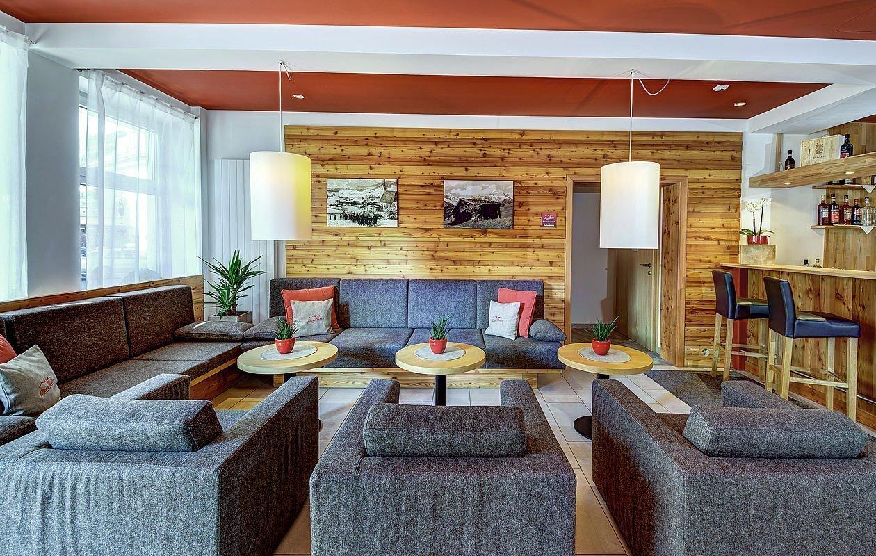 Neu gestalteter Lobbybereich im Hotel