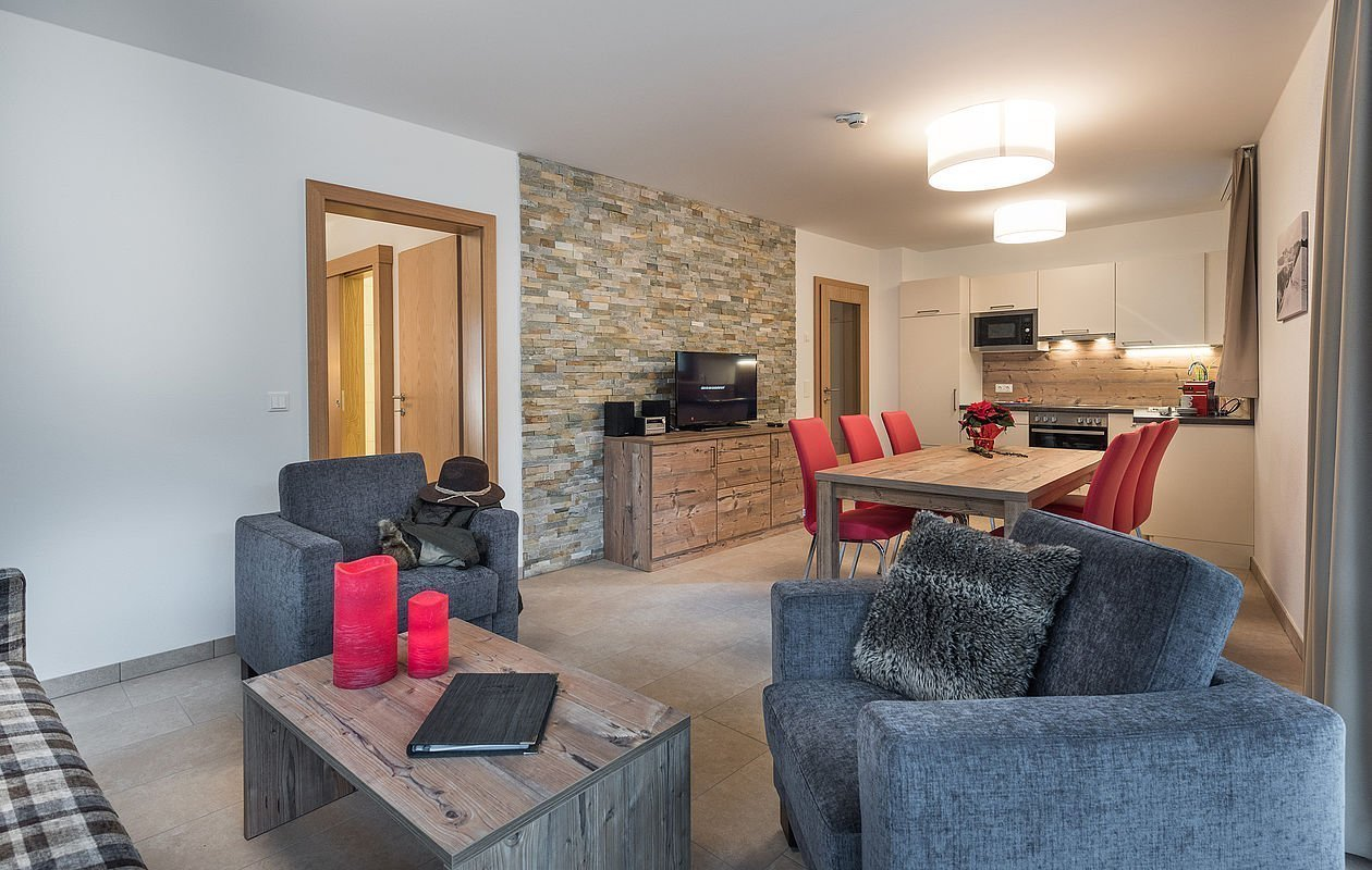 Geräumige Apartments mit Wohn-Küchenbereich
