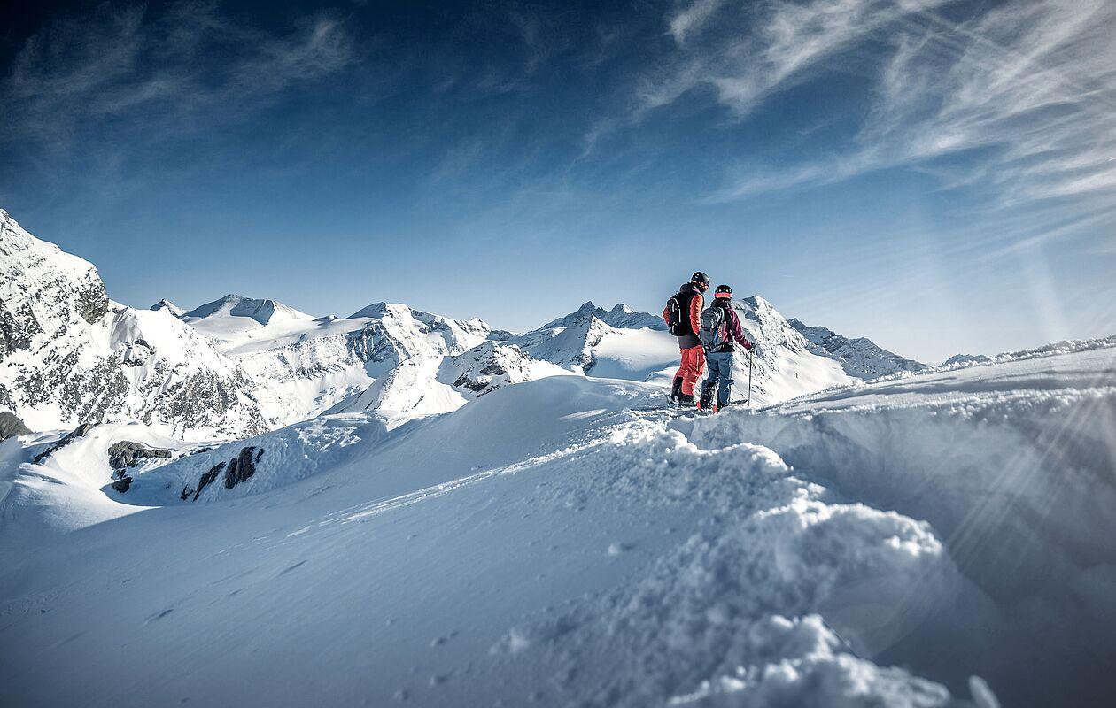Tiefschnee Skifahren am Kitzsteinhorn
