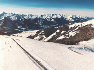 Ausblick auf der Schmittenhöhe beim Bergrestaurant Schnapshans in Zell am See