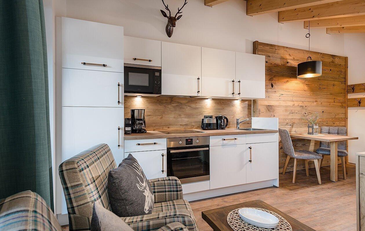Top ausgestattete Küche im Penthouse Junior Suite